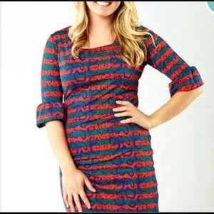 🆕 Tracy Negoshian Belinda Cheetah Stripe Dress.